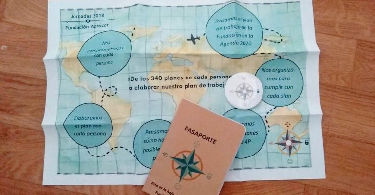 mapa y pasaporte de las jornadas aprocor
